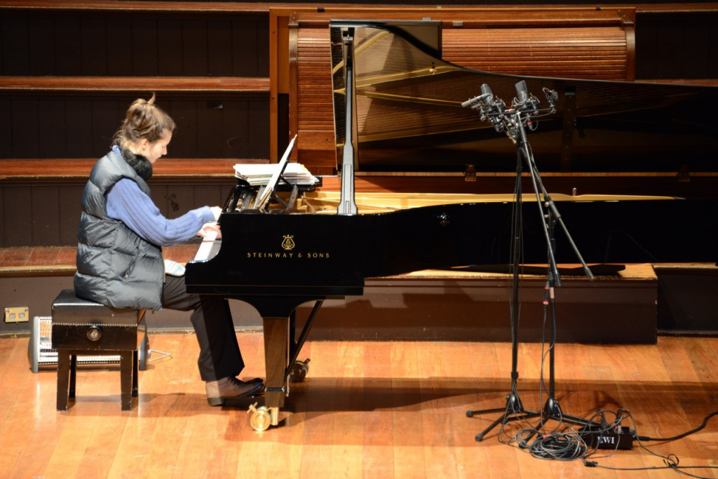 Piano on Tour - Claire recording